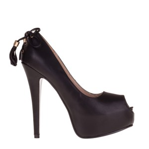 reducere Pantofi dama Sharon negri, cel mai mic pret