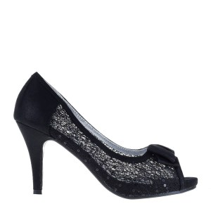 reducere Pantofi dama Lark negri, cel mai mic pret