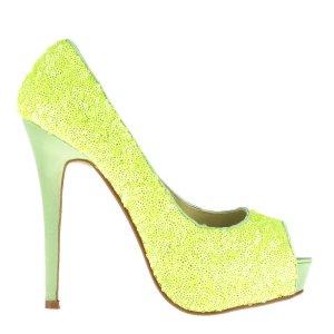 reducere Pantofi dama Katia galbeni, cel mai mic pret