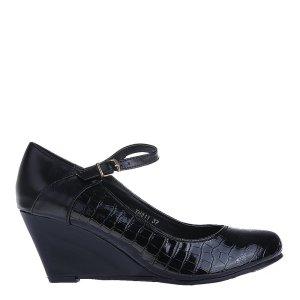 reducere Pantofi dama Sosa negri, cel mai mic pret