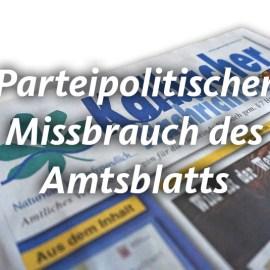 Kalbacher Nachrichten – Verstoß gegen Richtlinien für redaktionelle Veröffentlichungen