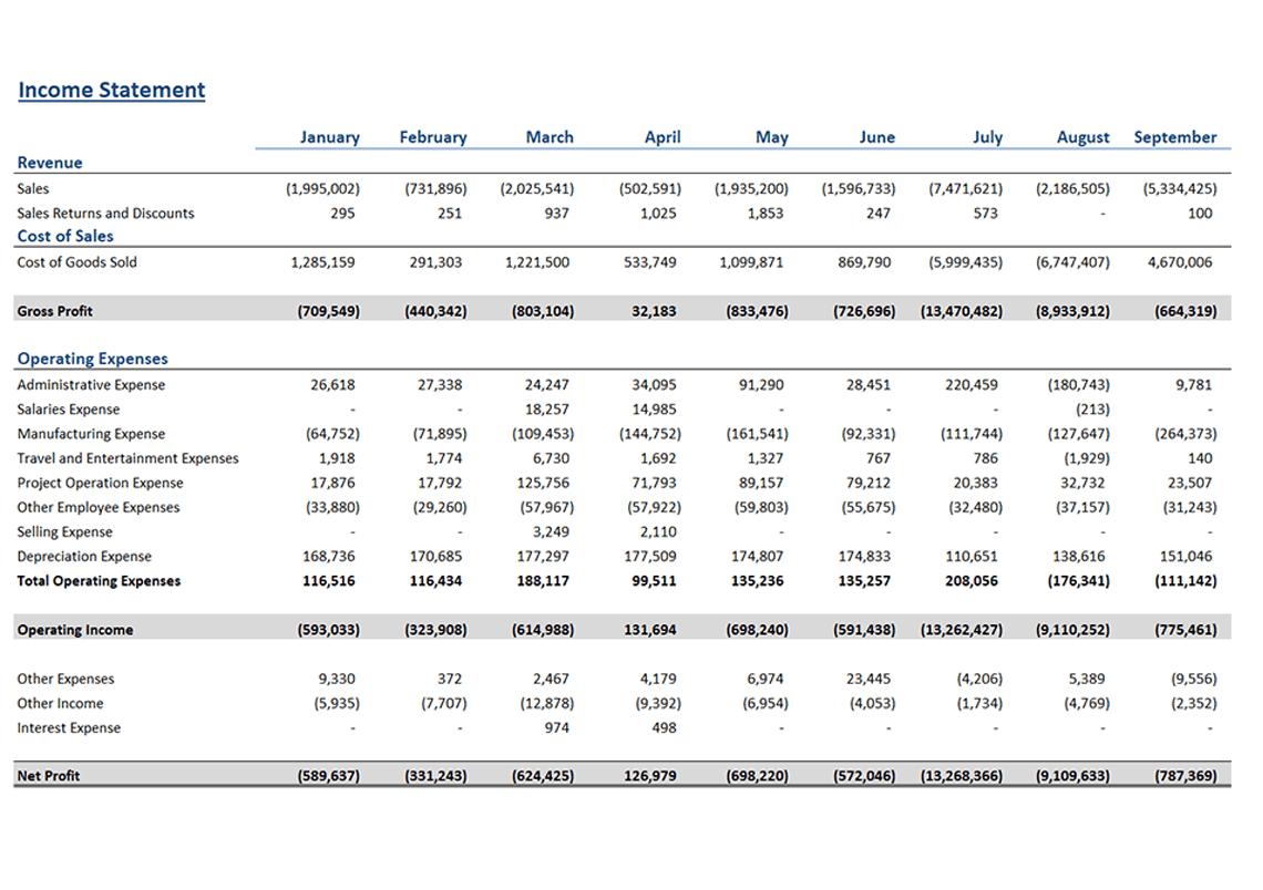 Income Satement | Income Statement Accounts