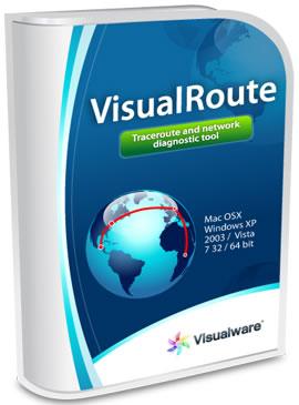С VisualRoute можете да откриете местоположението на даден компютър, независимо