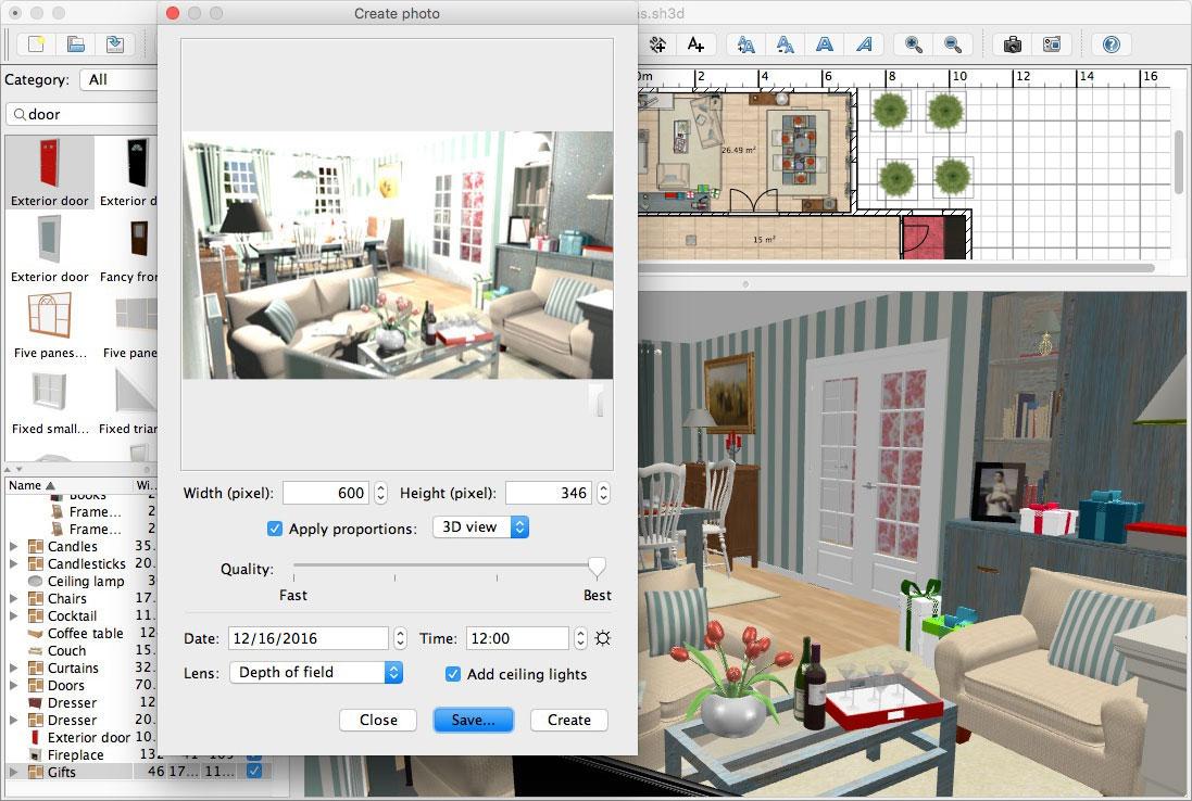sweet home 3d 6 0. Black Bedroom Furniture Sets. Home Design Ideas
