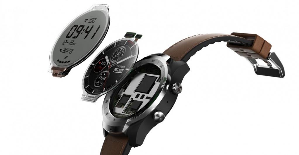 Китайската компания Mobvoi представи уникален смарт часовник с два дисплея.Това