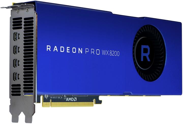 AMD представи професионалния ускорител Radeon Pro WX 8200