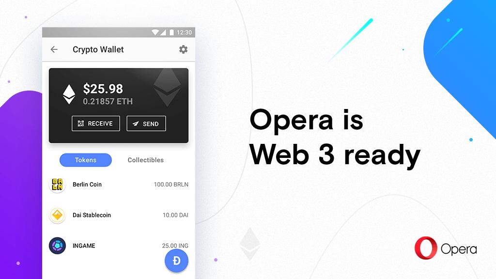 Компанията Opera представи първият браузър с поддръжката на Web 3