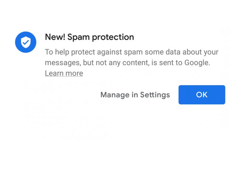 Снимка: В Android Messages бе добавена автоматична защита от спам