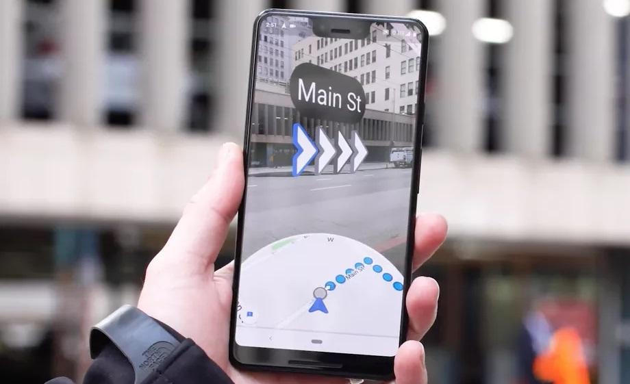 В Google Maps се появи навигация в допълнена реалност