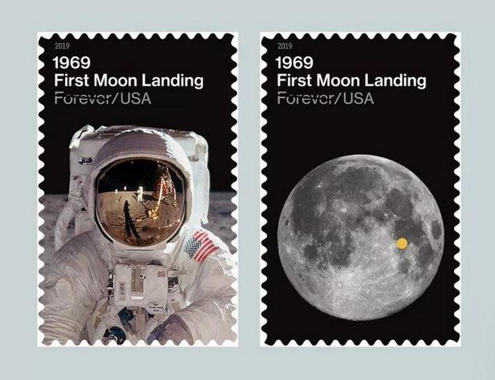 отпечатъка на ботуша на Олдрин на Луната.