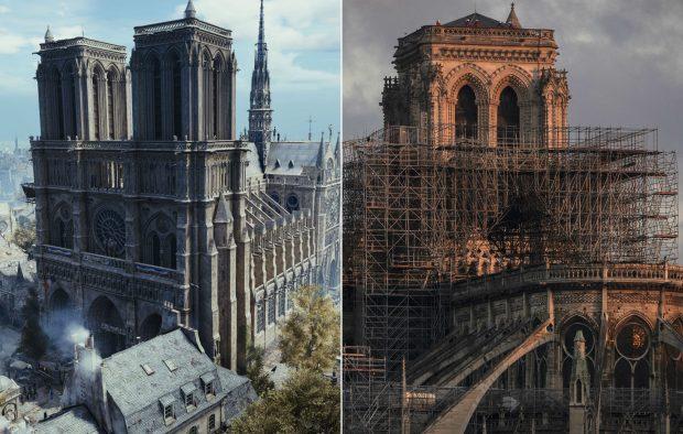 Снимка: Моделът на Нотр Дам от Assassin's Creed Unity ще помогне за реконструкцията на истинската катедрала