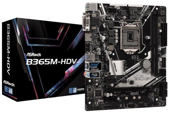 ASRock   B365M-HDV   Intel Coffee Lake-S