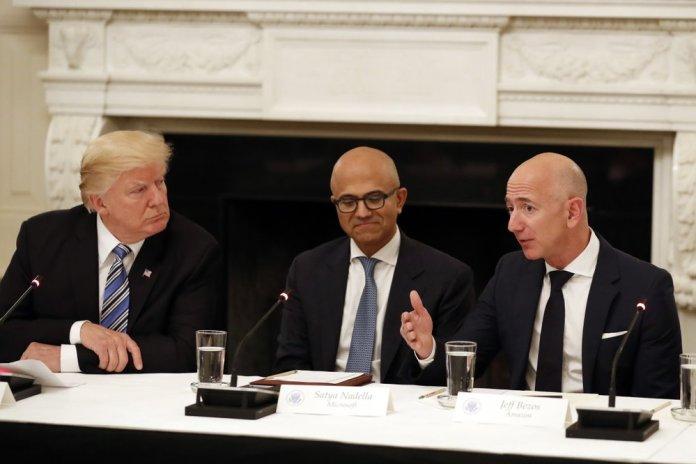 "Amazon  Microsoft      "" """