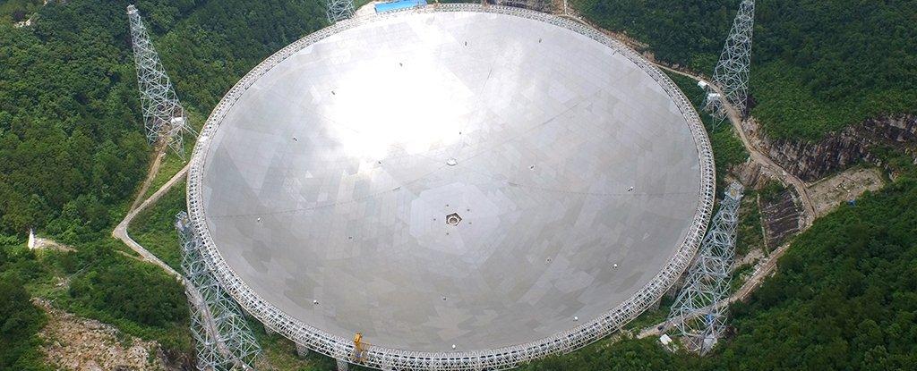 Гигантският китайски телескоп получава повтарящи се сигнали от космоса