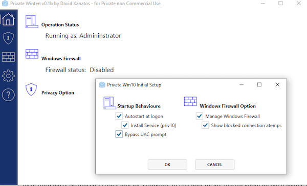 PrivateWin10 е усъвършенстван инструмент за поверителност за Windows. Той предлага