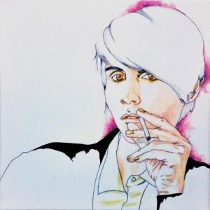 Joe Barajas; Small Beauty # 3; Oil & Ink on Canvas; 12 X 12; $35.00