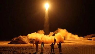 تصویر عربستان سعودی دو موشک شلیکشده از یمن را منهدم کرد