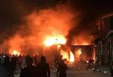 Photo of معترضان عراقی برای بار سوم کنسولگری ایران را به آتش کشیدند