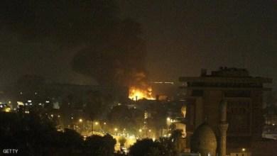 تصویر واکنش ها به حمله راکتی تازه به سفارت آمریکا در عراق