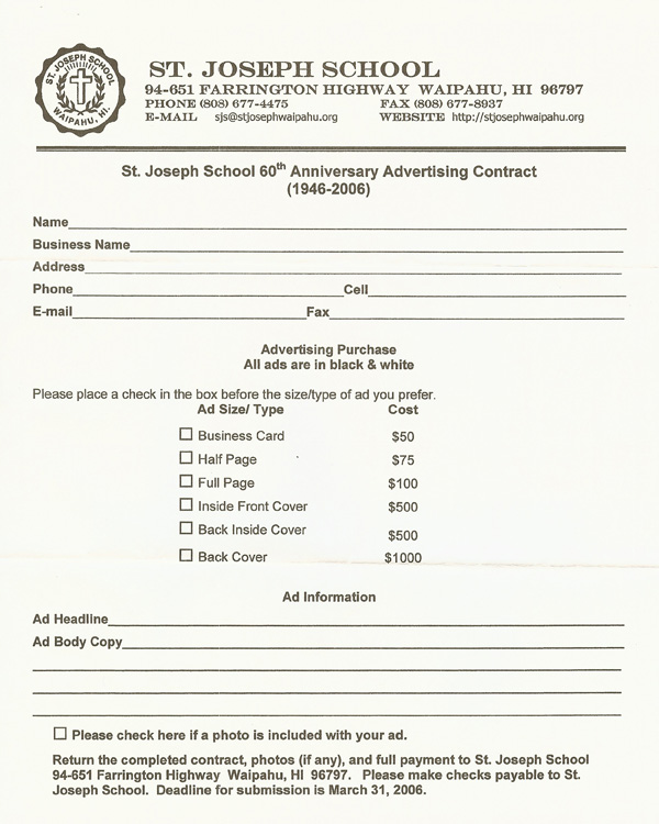 Advertising Contract Free Printable Documents