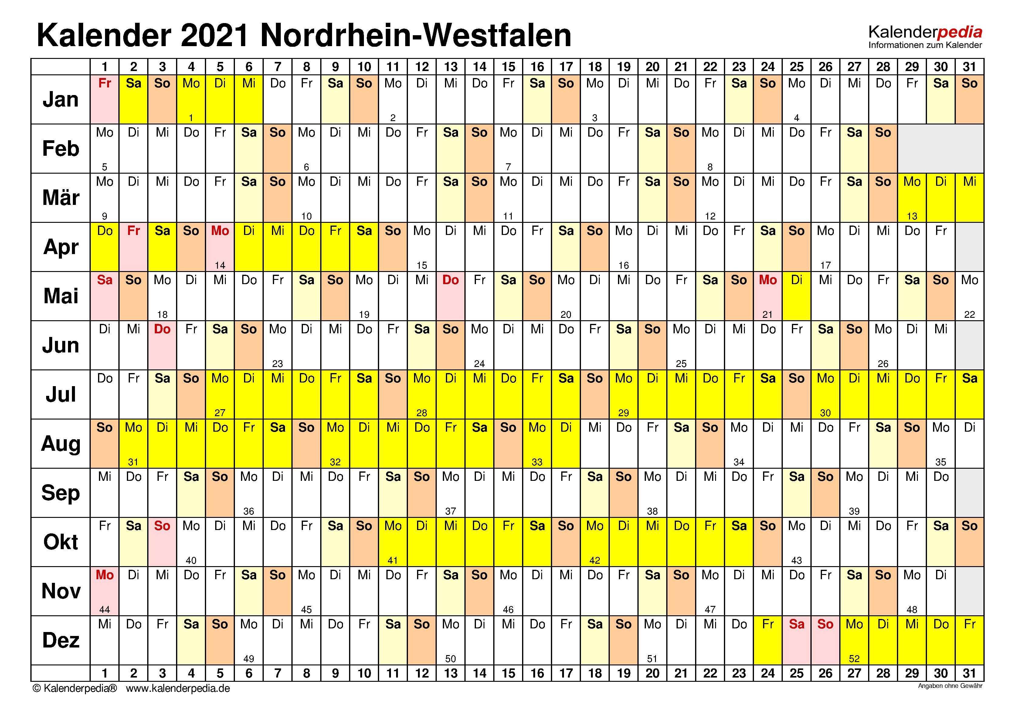 Kalender 2020 zum ausdrucken kostenlos. Kalender 2021 Nrw Ferien Feiertage Pdf Vorlagen