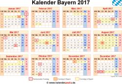 schulkalender 2018 bayern