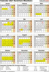 Kalender 2021 kostenlos downloaden und ausdrucken. Kalender 2021 Nrw Ferien Feiertage Pdf Vorlagen
