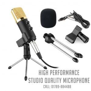 bm 100fx usb powered condenser studio recording microphone with noise cancel and echo effect