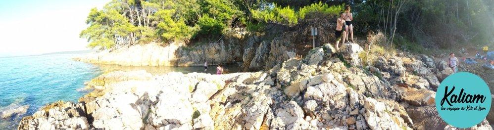 photo Panorama de la crique en croatie