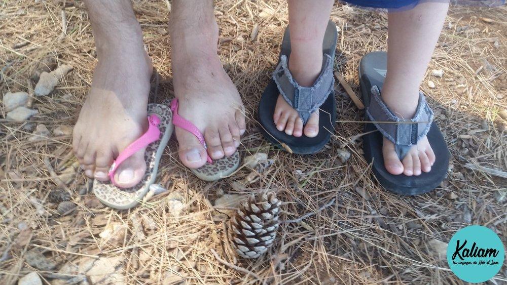 Math et Kali ont changé de chaussures