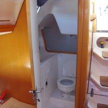 les toilettes dans un voilier en croatie