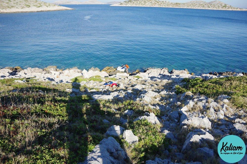 Escalade sur ile du parc de Kornati