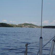 au départ de Sibenik vers notre premier pont