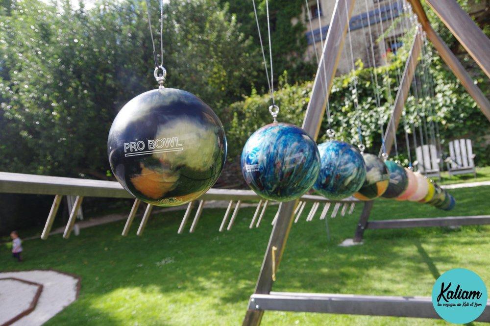 Les boules de bowling recyclés