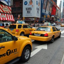 Les taxis jaunes de New York