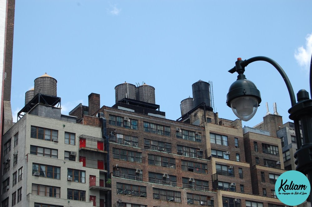 l'eau sur les toits de New York
