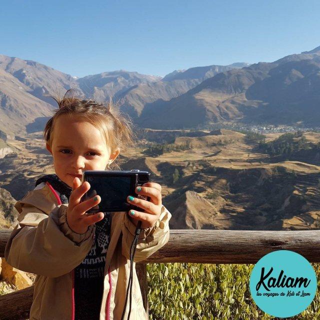 Kali is becoming really good at making selfies canyoncolca Perou