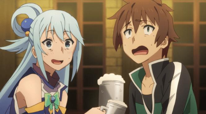 Konosuba-Aqua-and-Kazuma