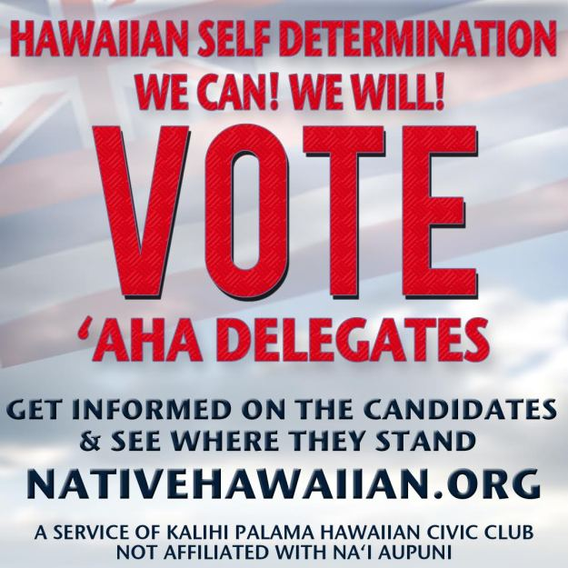 VOTE FOR ʻAHA DELEGATES! POSTER