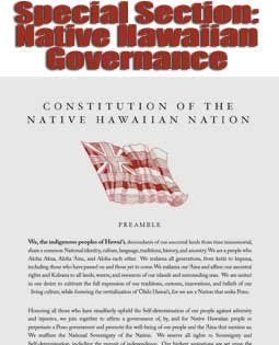 Special Section: Native Hawaiian Governance