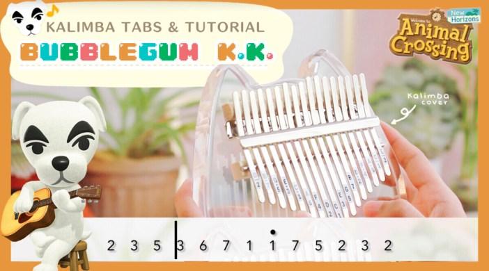 Animal Crossing Bubblegum K.K. - Kalimba 【Easy Tabs & Tutorial】