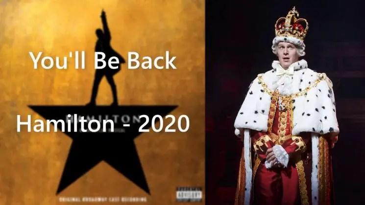 You'll Be Back By Hamilton Kalimba Tabs