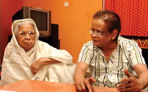 Humyon Ahmed with mother
