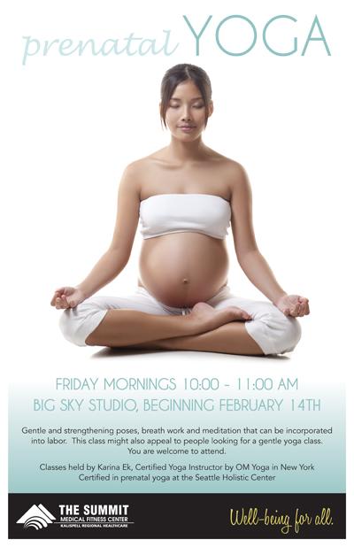 Kalispell OB/GYN - prenatal Yoga at The Summit