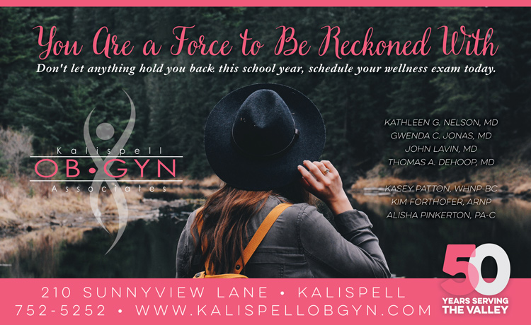 Kalispell-OBGYN-Young-Woman-Wellness-Ad