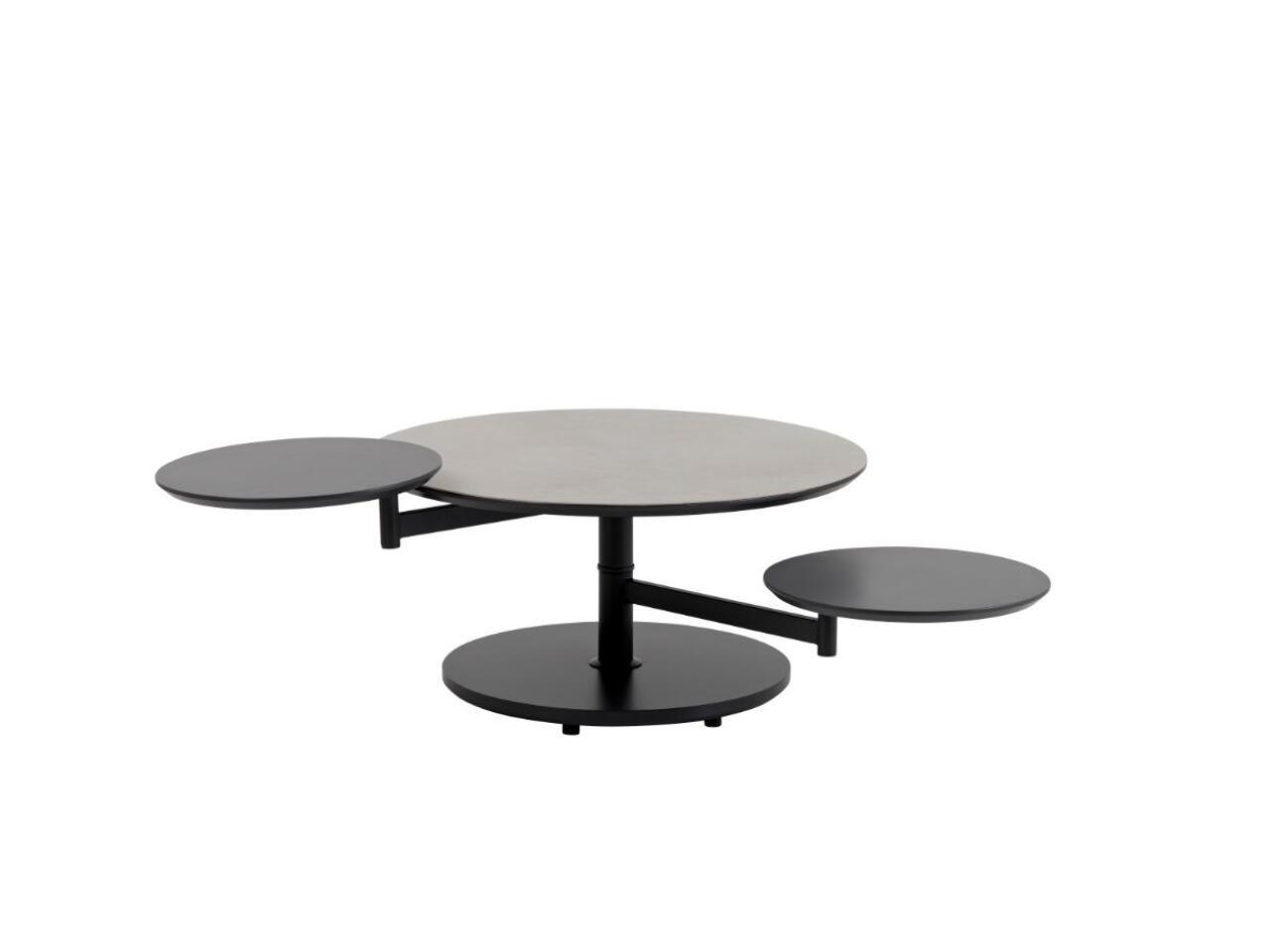 table basse 2 plateaux pivotants a claira