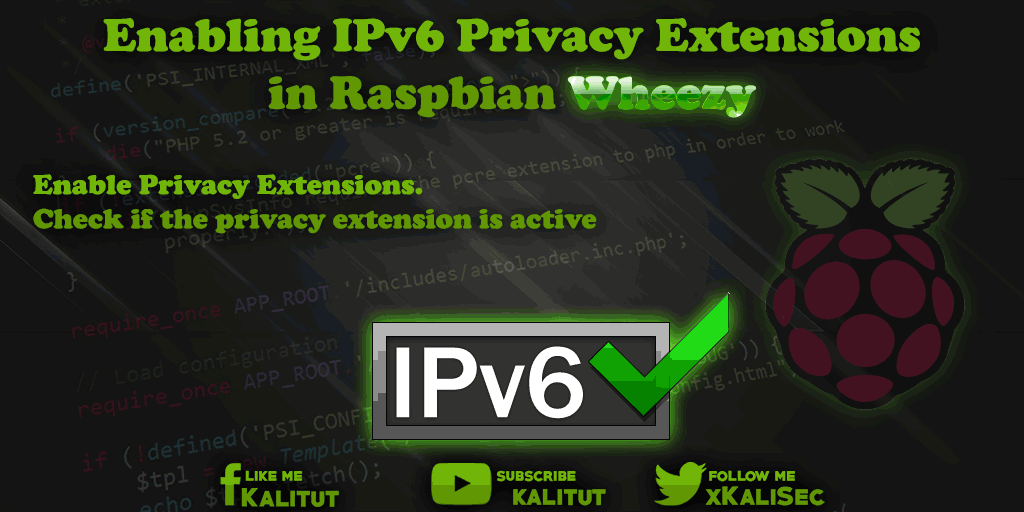 Enable Raspbian Wheezy IPv6 Privacy Extensions