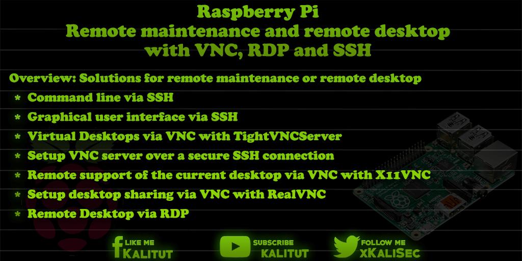 Remote maintenance Raspberry Pi
