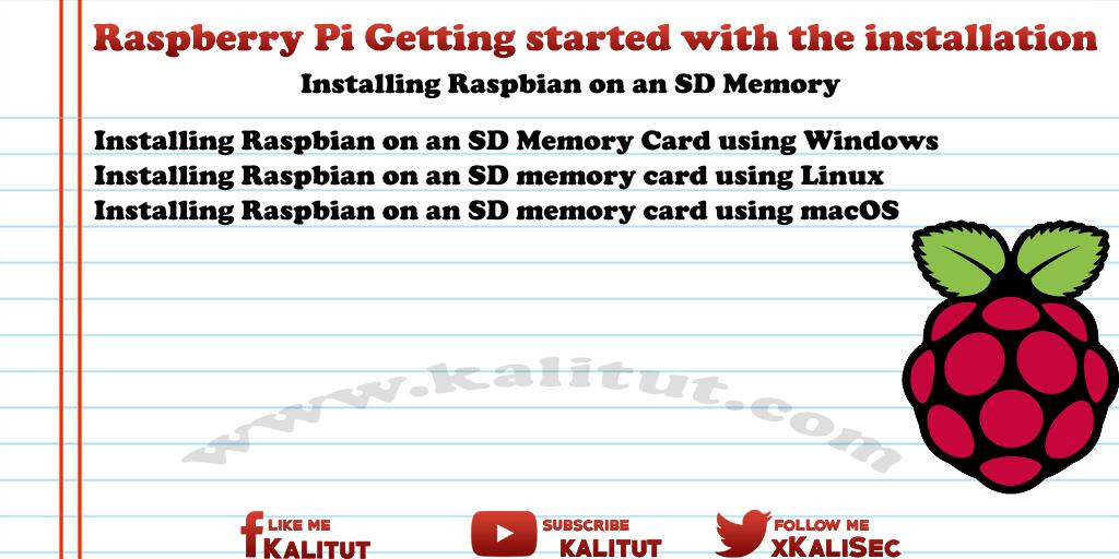 how to install Raspbian on an SD Card