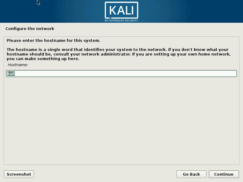 Kali linux lang